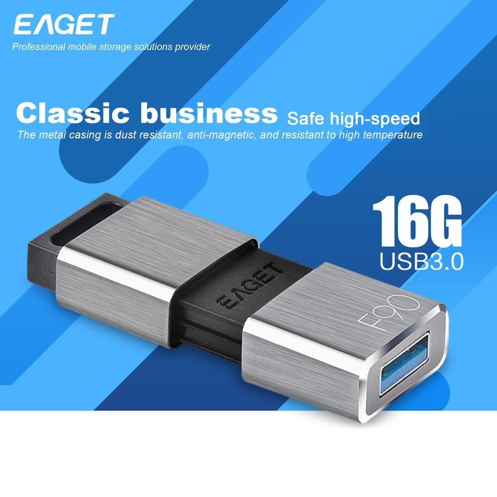 Eaget F90 USB Flash Drive USB3.0 Pendrive 16GB/ 32GB/ 64GB/ 256GB USB Stick,bright grey