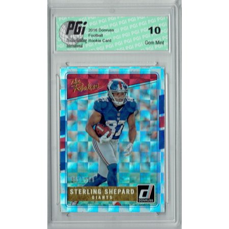 Sterling Shepard 2016 Donruss The Rookies 23 Sp 999 Made Rookie Card Pgi 10