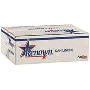 Renown Can Liner 43X48 56Gl 14 Mic Natural 25/Rl 8Rl/Cs