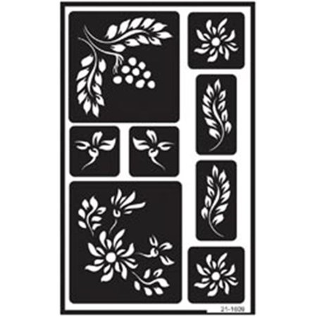 341653 Over N Ft Over Reusable Glass Etching Stencils 5 In X 8 In