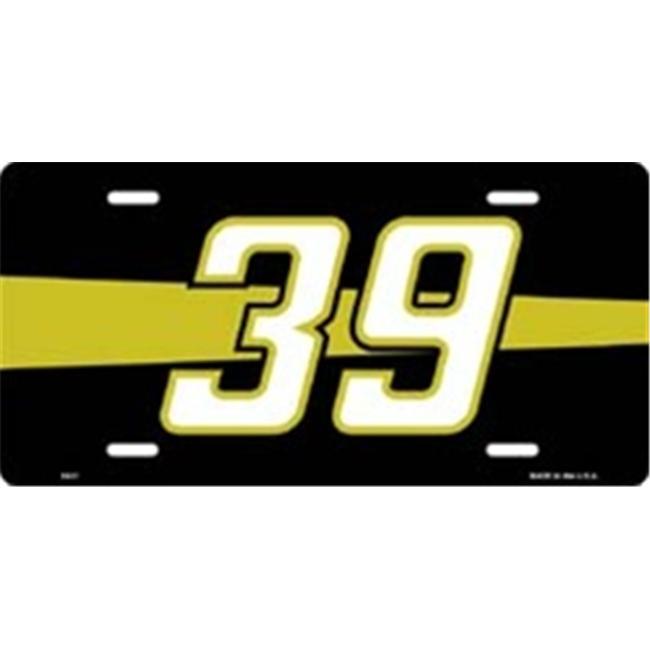 LP-1248 39 Racing License Plate- X421