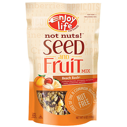 Enjoy Life Beach Bash(R) Not Nuts!(TM) Seed & Fruit Mix, 6 oz (Pack of 6)