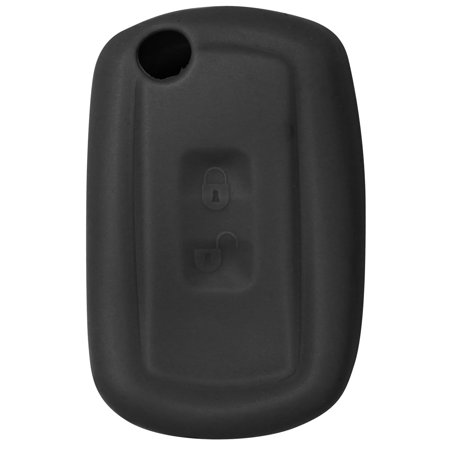 New Silicone Cover Protective Case for Select Flip Remote Key Fobs  YWX000071 - Black