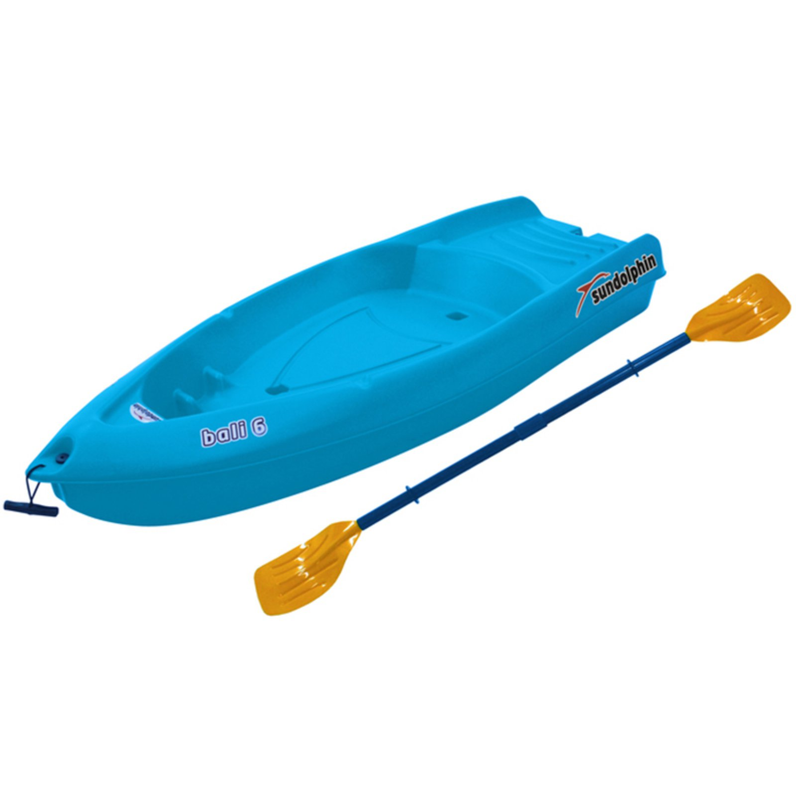 Sun Dolphin Bali 6' Youth Kayak Tangerine, Paddle Included by KLOutdoor