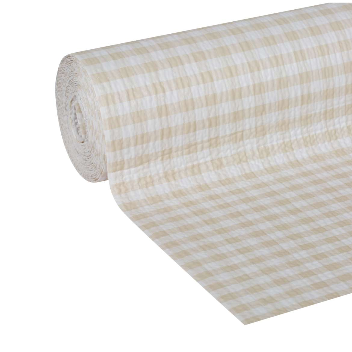 "Duck Brand Smooth Top Easy Shelf Liner, 12"" x 10', Sandstone Gingham"