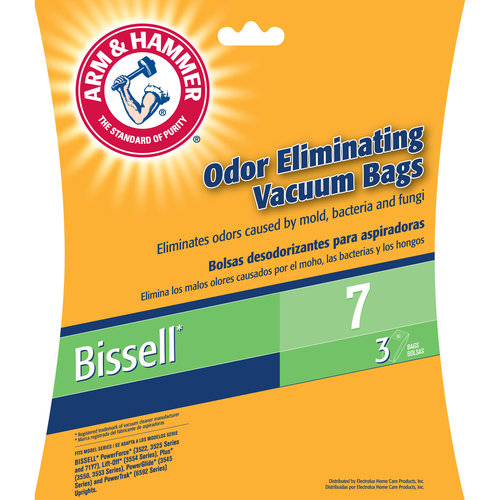 Arm & Hammer Odor Eliminating Vacuum Bags, Bissell 7 Bag, 3 Pack