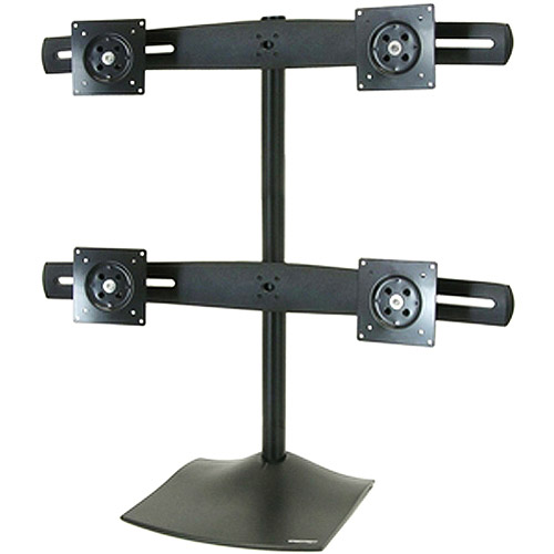 "Ergotron 33-324-200 DS100 Quad-Monitor Desk Stand - Up to 124lb - Up to 24"" Flat Panel Display - Black"