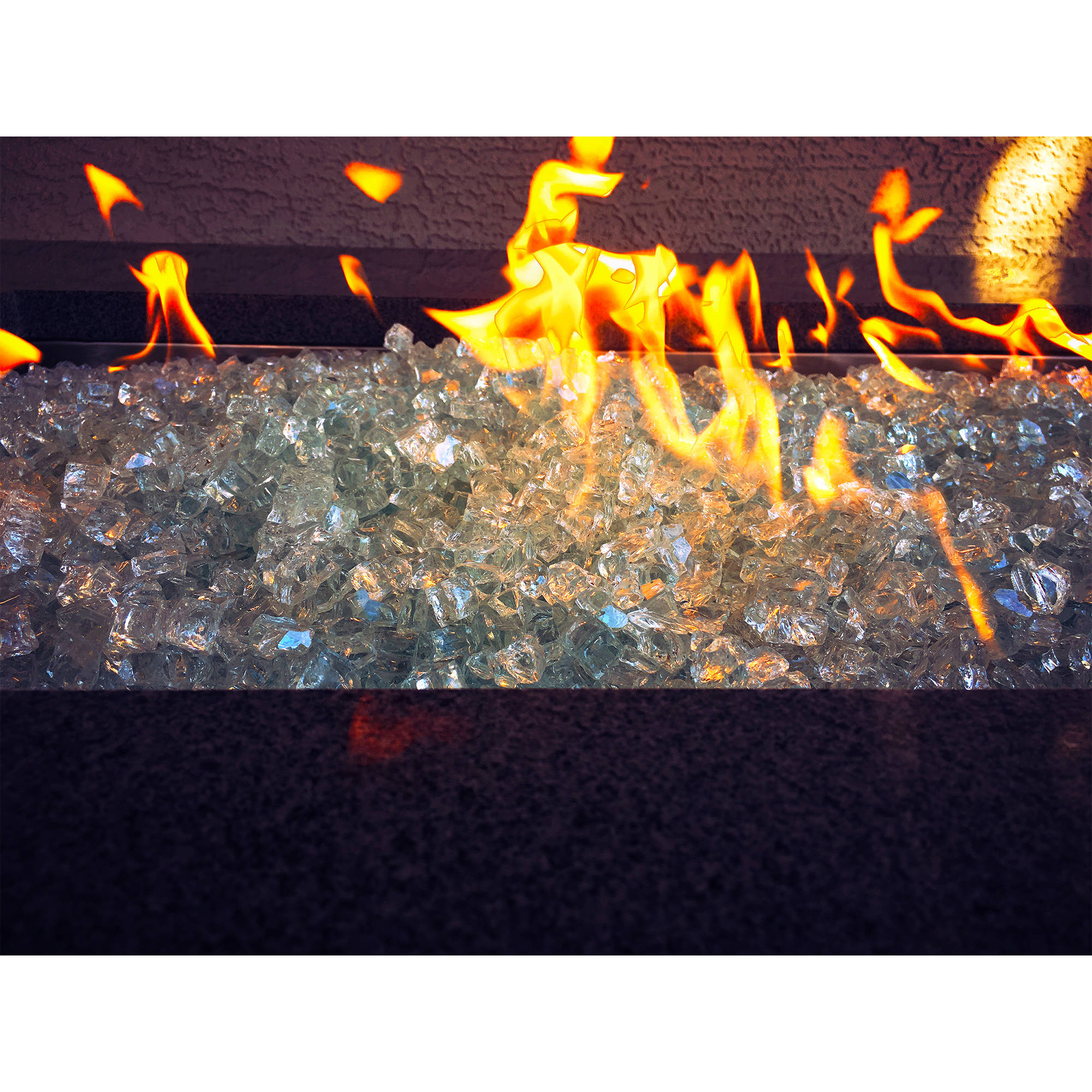 "Element Aquamarine 1/2"" Large Fire Pit Glass"