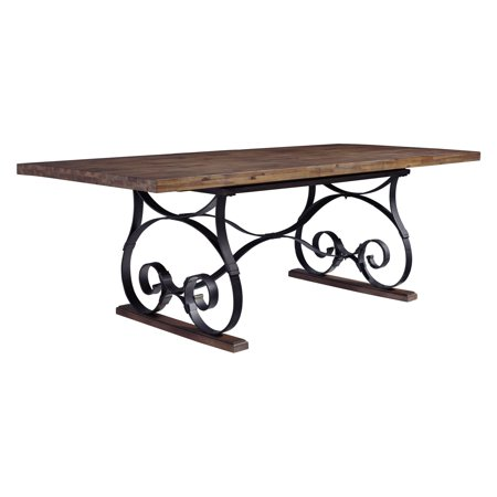 - Standard Furniture Hawkins Brown Trestle Extension Dining Table