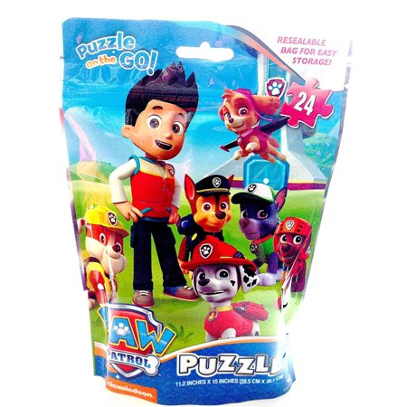 Paw Patrol Puzzle on the Go! 24-Piece Puzzle in Resealable - Paw Patrol Halloween Puzzle