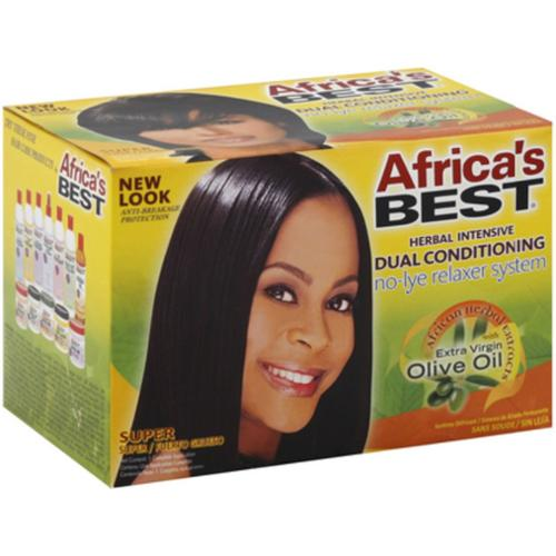 Africa's Best Dual Conditioning Relaxer System, Super, No-Lye 1 ea (Pack of 3)