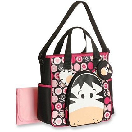 Zebra Face Tote Diaper Bag, By Baby Boom Ship from US by Baby Boom
