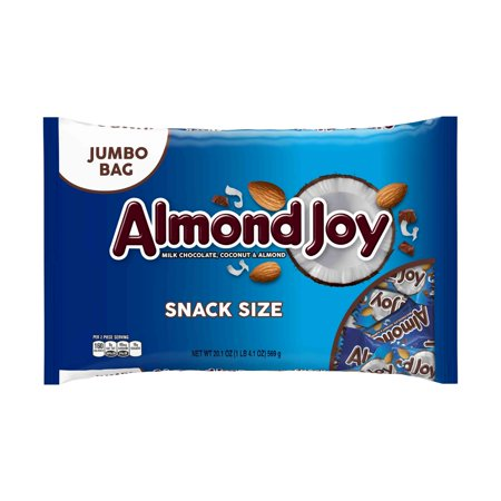 Almond Joy, Milk Chocolate Coconut & Almonds Candy Snack Size, 20.1 Oz - Homemade Candy Bar Halloween Costumes