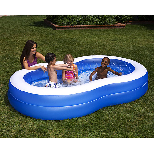 Blue Paradise Lagoon Inflatable Kiddie Pool