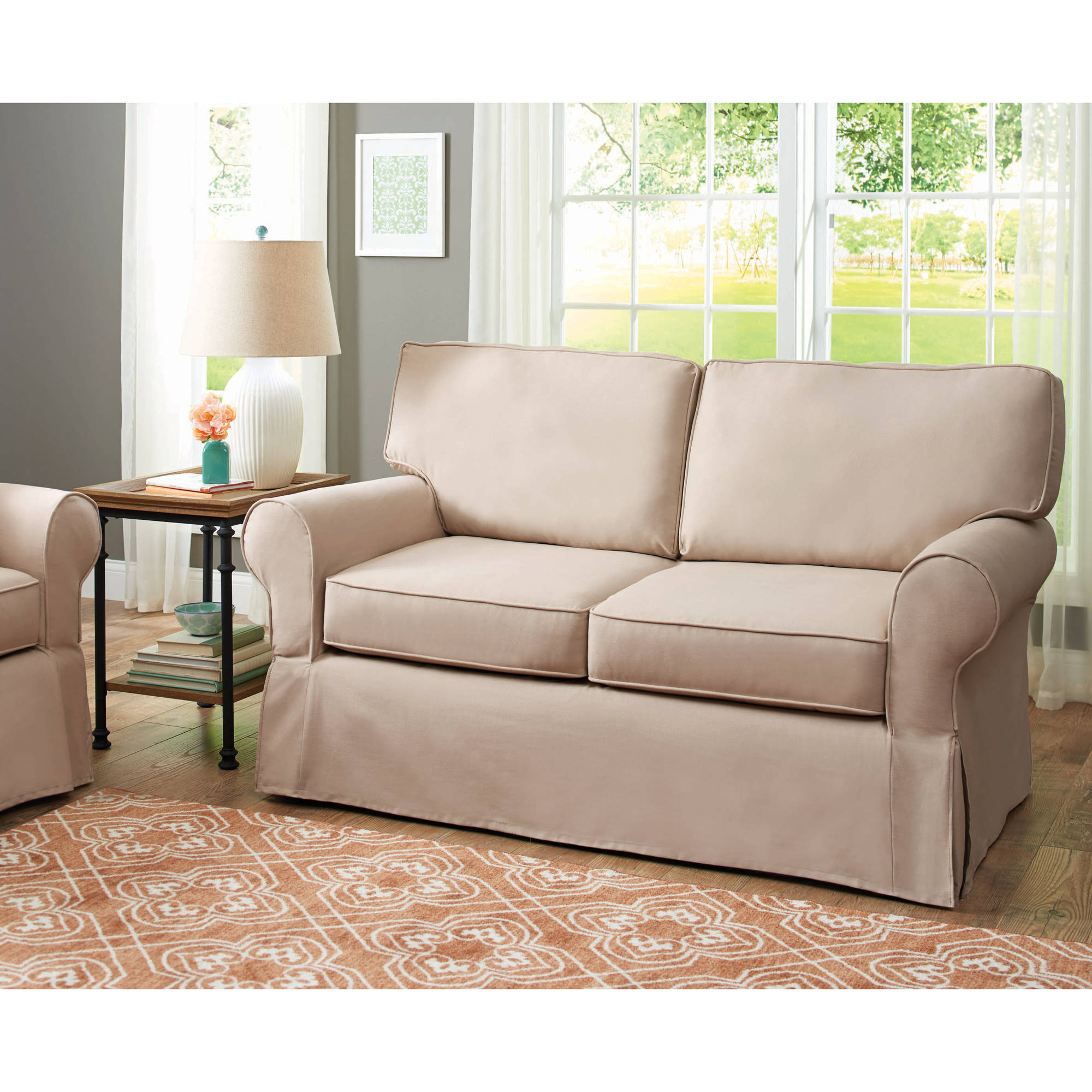 Better Homes and Gardens Slip Cover Pala Loveseat, Multiple Colors