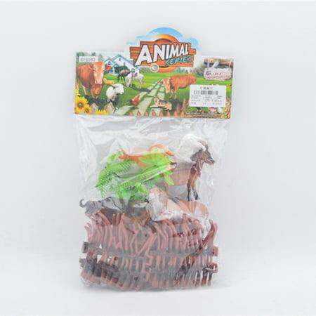 Farm Animal Figure Toys Animal Action Figure Set Kids Animal Toys (8-Piece) (Plastic Farm Animals)