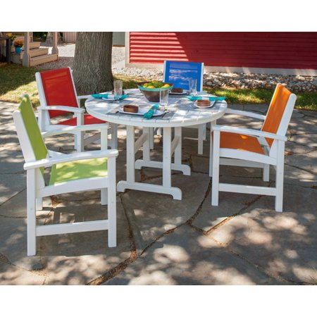 Incredible Polywood Coastal 5 Piece Dining Set Dailytribune Chair Design For Home Dailytribuneorg