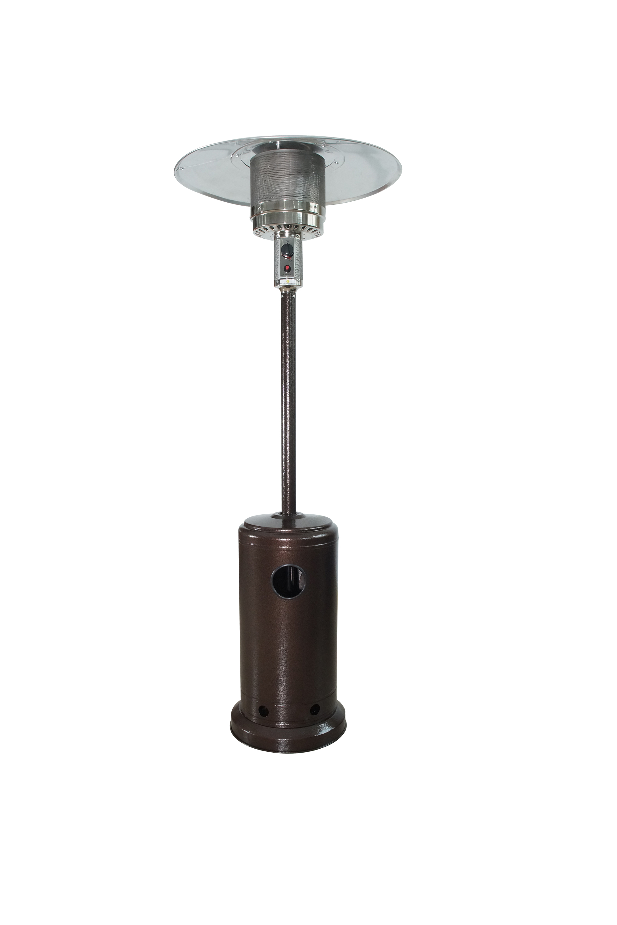 Baner Garden ASD AG Outdoor Propane Patio Heater With Cover Commercial Tall  Hammered Finish