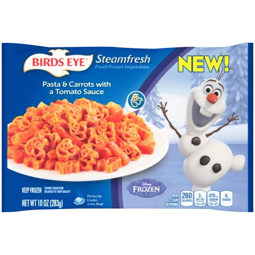 Birds Eye Steamfresh Pasta & Carrots with a Tomato Sauce, 10 oz