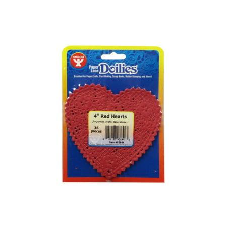 Hygloss Paper Lace Doilies Heart 4
