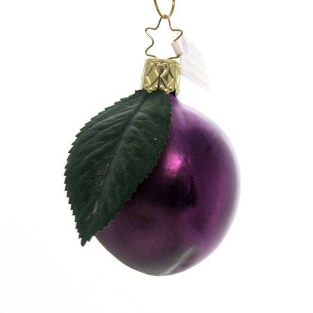Inge Glas HARVEST PLUM ORNAMENT Glass Fruit Christmas 10040S018
