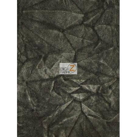 Crush Flocking Upholstery Velour Velvet Fabric Charcoal Sold By