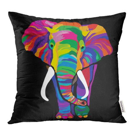 Thai Positioning Pillow - YWOTA Purple Animal Colorful Elephant Red Pop India Flamboyant Thailand African Pillow Cases Cushion Cover 16x16 inch