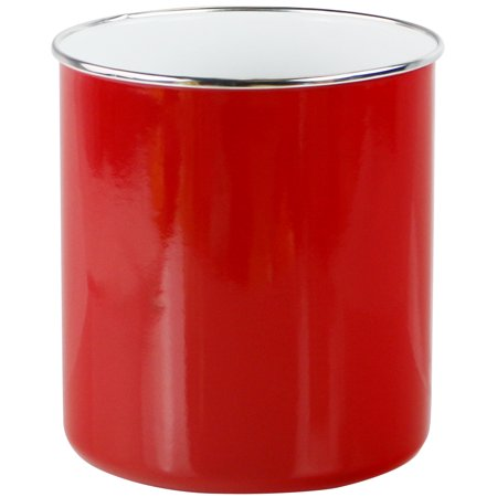 Calypso Basics, Large Enamel on Steel Utensil Jar, Red ()