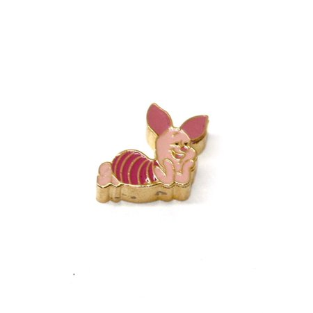 Disney Piglet Jewelry - BRACCIALE DISNEY PIGLET STAINLESS STEEL GOLD PLATE FLOATING NECKLACE CHARM