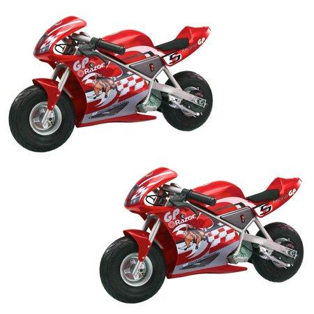 Cagllari Daytona Pocket Bike (Razor Pocket Rocket Kids Mini Bike Ride On Electric Motorcycle, Red (2)