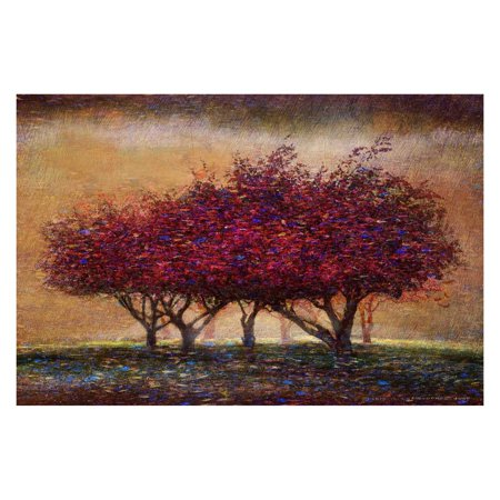 Marmont Hill Crabapple Blossoms Painting Print on Wrapped - Crabapple Hill Halloween Patterns