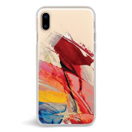 Zero Gravity Apple iPhone X Abstract Phone Case - Smudged Paint - 360° Protection, Drop Test Approved (Zero Traveler Case)