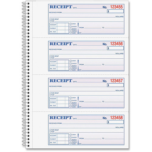 Adams Wirebound Money/Rent Receipt Books - Walmart.com