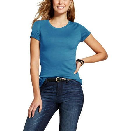 Womens Crew Neck Shot Sleeve T Shirt Classic Plain Athletic Cotton Basic Tee