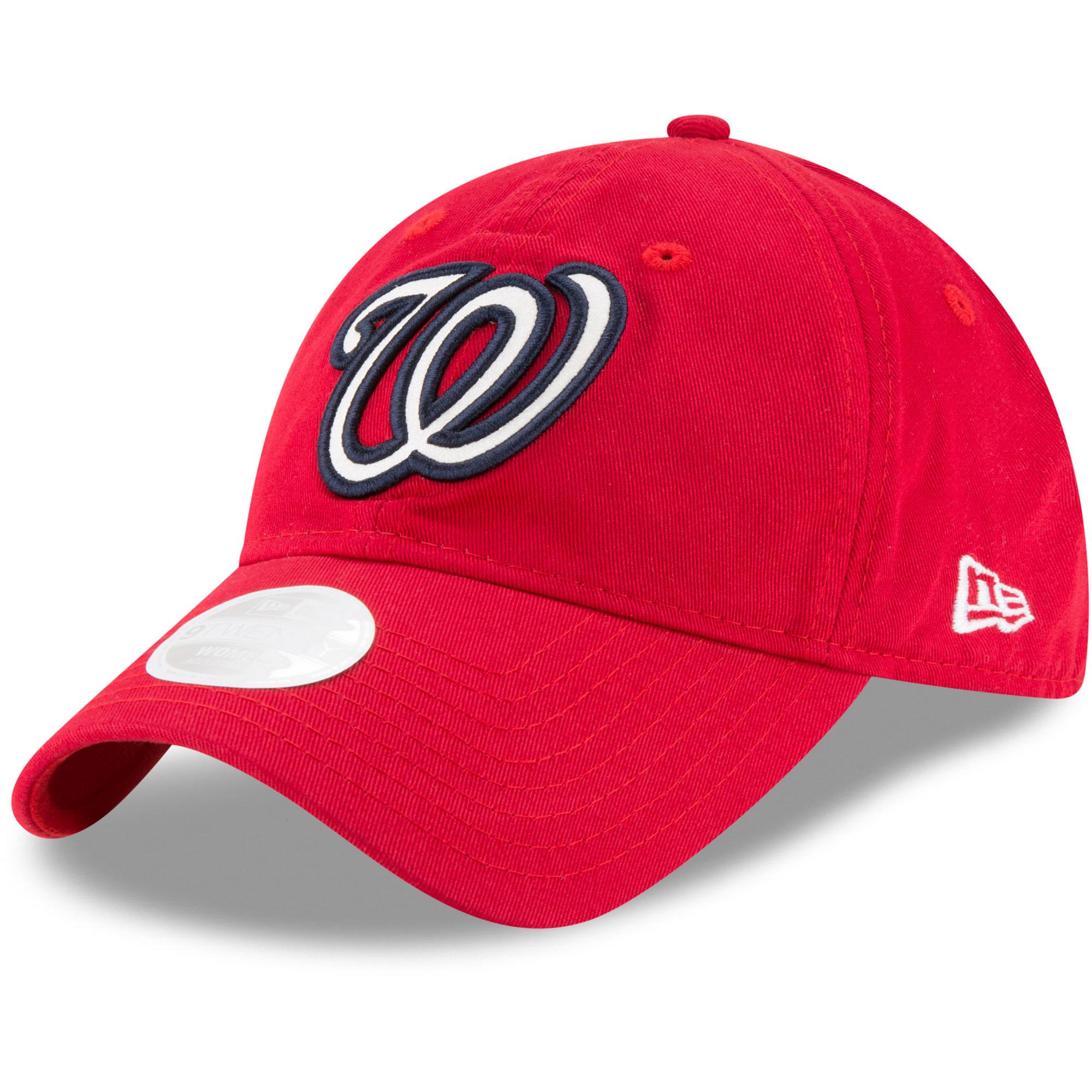 Washington Nationals New Era Women's Team Glisten 9TWENTY Adjustable Hat - Red - OSFA