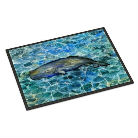 Sperm Whale Cachalot Indoor Or Outdoor Mat 18x27 Bb5338mat