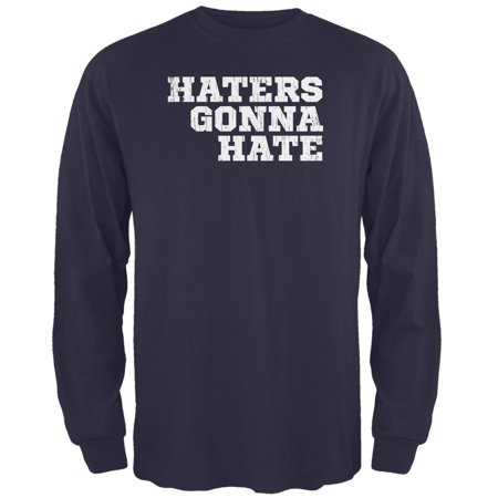 Haters Gonna Hate Navy Adult Long Sleeve T-Shirt - Miranda Sings Haters Back Off Shirt