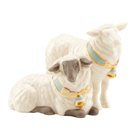 - Lenox First Blessing Pair of Sheep Porcelain Christmas Nativity Figurine