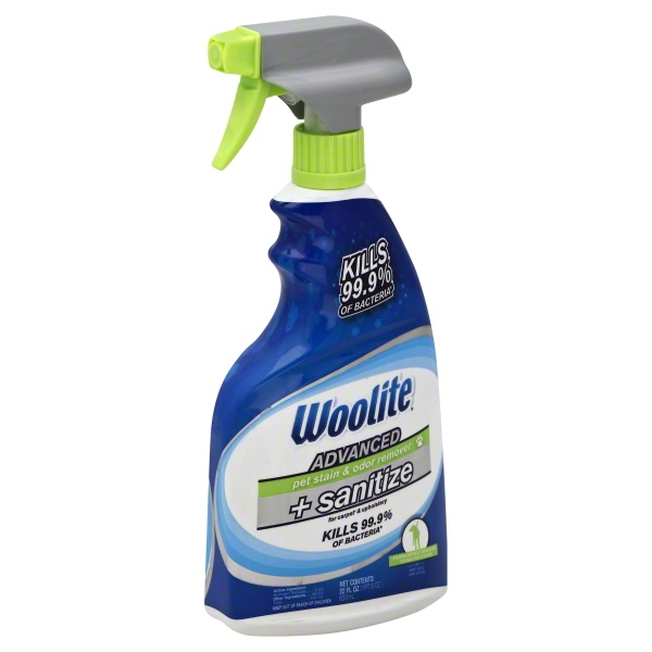 Woolite Advanced Pet Stain & Odor Remover + Sanitize For Carpet & Upholstery, 22.0 FL OZ