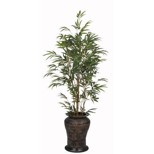 House of Silk Flowers Inc. Artificial Yellow Bamboo Tree in Decorative Vase