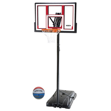 Lifetime 48   Shatterproof Portable One Hand Height Adjustable Basketball System With Basketball  90491