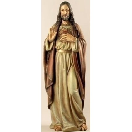 Roman Renaissance Collection Joseph's Studio Sacred Heart of Jesus Statue, 37.5