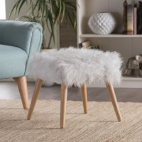 Surprising Faux Fur Ottomans Walmart Com Andrewgaddart Wooden Chair Designs For Living Room Andrewgaddartcom