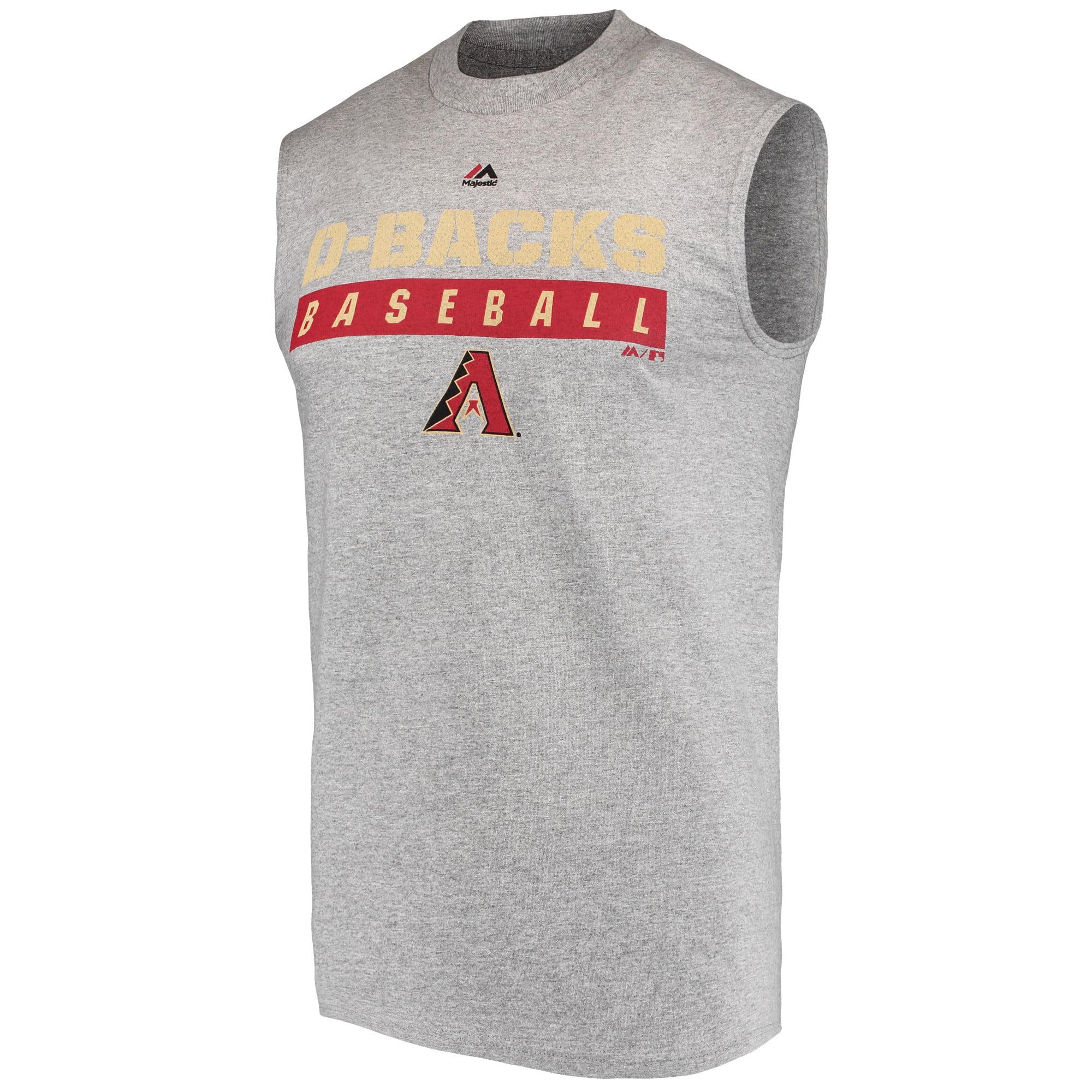 Men's Majestic Gray Arizona Diamondbacks Proven Pastime Sleeveless T-Shirt