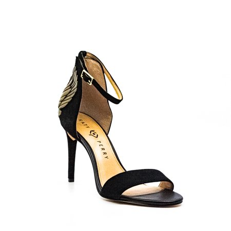 Katy Perry | The Alexann Suede Ankle Strap Pumps | Black