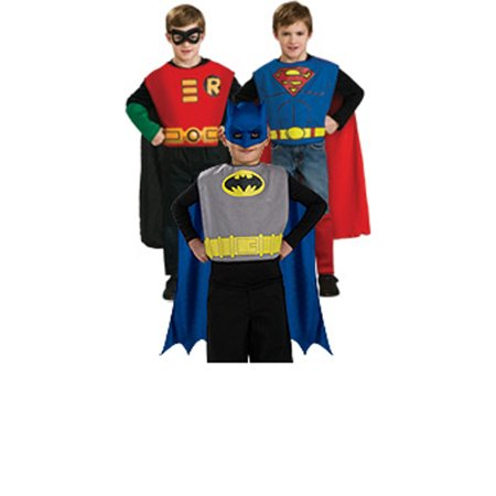 DC Comics Action Trio Child Halloween Costume, 1 Size (Female Comic Book Costume Ideas)