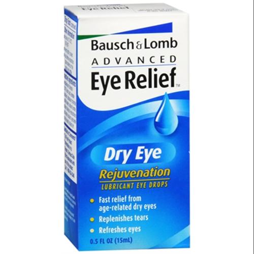 Bausch & Lomb Advanced Eye Relief Rejuvenation Lubricant Eye Drops 0.50 oz (Pack of 6)