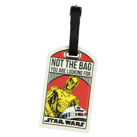 Star Wars Not The Bag You Are Looking For Droids C-3PO/R2-D2 Luggage Travel Tag (Luggage Tag Star Wars)