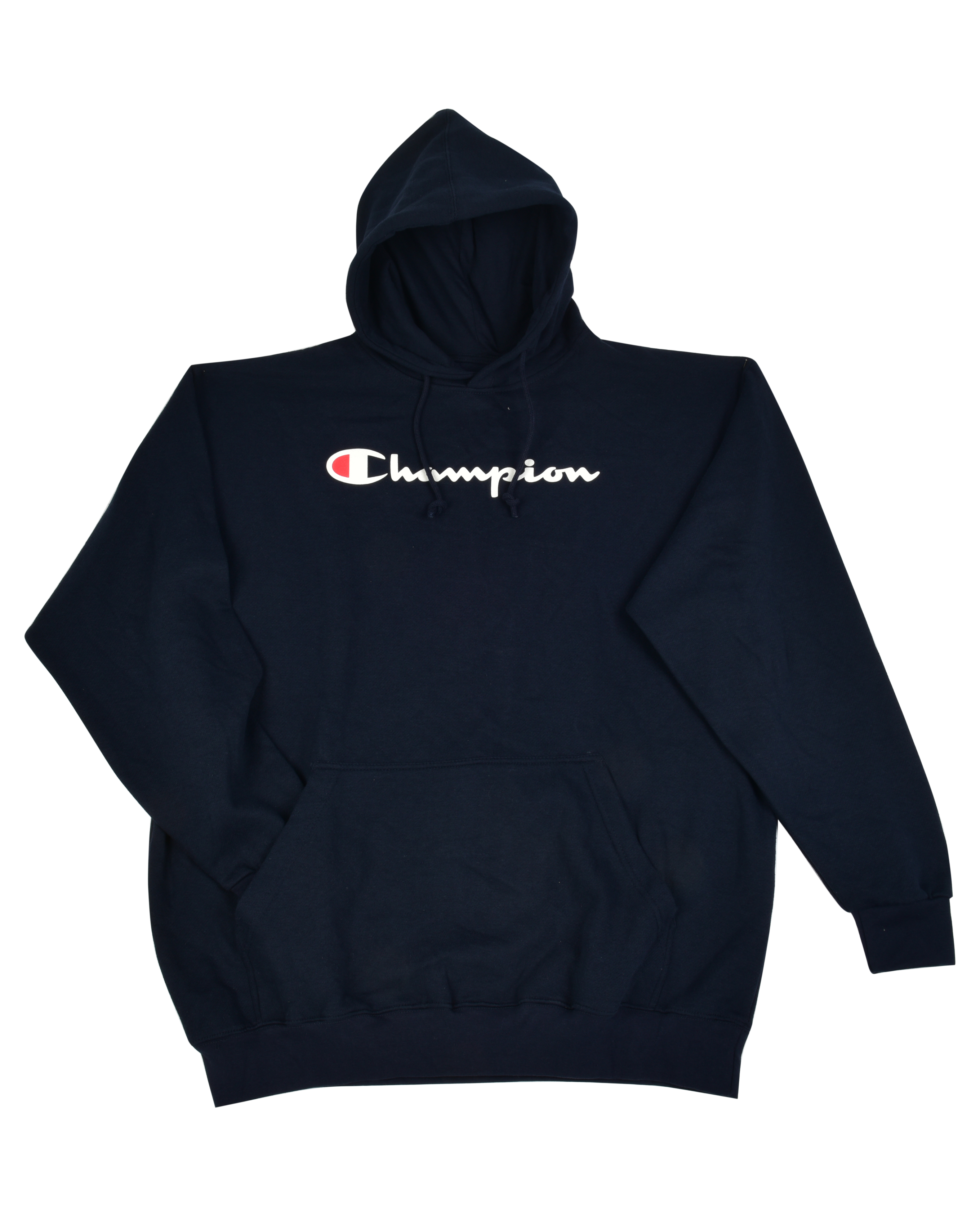 S-2X 3 COLORS Champion Men/'s Powerblend Fleece Pullover Hoodie Script Logo