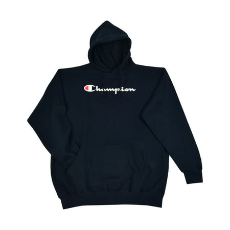 7a41a0ad Champion Men's Big and Tall Script Logo Pullover Hoodie - Walmart.com